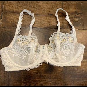 Victoria's Secret Embellished Lace Unlined Bra 32D